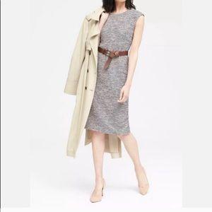 Banana Republic A-Line Knit Dress Heather Grey 6